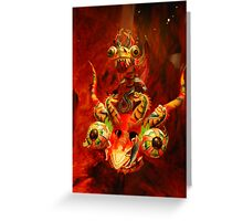 Red Dragon...brings luck Greeting Card