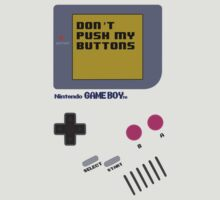 Nintendo - Don't Push My Buttons (Original Gameboy) by Erin Muldoon