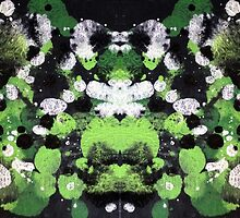 Abstract Frog & DragonFly Print by NoirGraphic