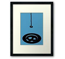 A useless object - vector image Framed Print