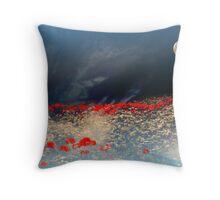 Moonlit poppies Throw Pillow