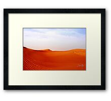 A day in the Arabian Desert Framed Print