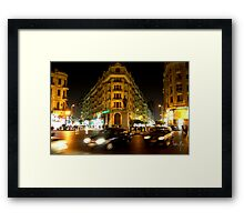 In the middle of Cairo Framed Print