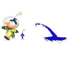Pikmin - Splatoon Crossover art - leaping squikmin by TokenOfHoN
