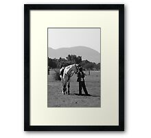 Horse and Groom Framed Print