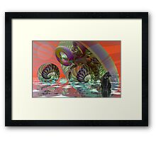 Is that a toy for me? Framed Print