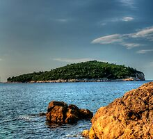 Lokrum Island Sunrise by Mark  Dodds