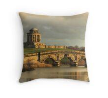 Castle Howard - New River Bridge and Mausoleum Throw Pillow