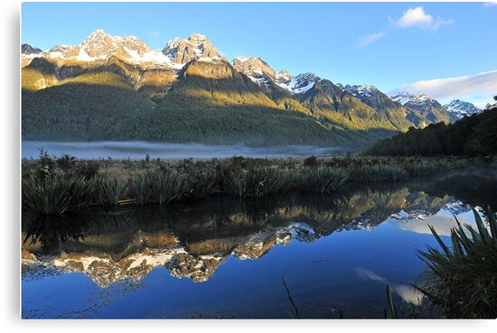 Mirror Lakes On The Way To Miford Sound. South Island, New Zealand. by Ralph de Zilva