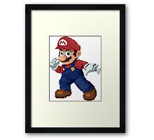 Super Pixel Mario Framed Print