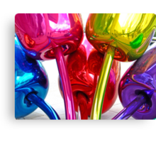 Bilbao Colors of Koons - Guggenheim museum, Basque Country Canvas Print