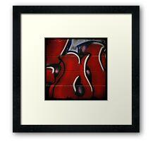 Red Graffiti Detail Framed Print