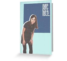 Impossible Clara - Doctor Who | #InfiniteTARDISMerch Greeting Card