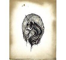 Dark Magic Unicorn Photographic Print