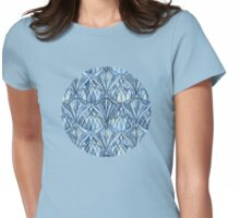 View Through a Blue Window Womens Fitted T-Shirt