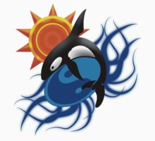 Orca yin yang Kids Clothes