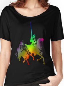 Psychedelic Don Quixote and Sancho Panza Women's Relaxed Fit T-Shirt