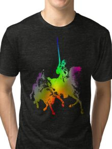 Psychedelic Don Quixote and Sancho Panza Tri-blend T-Shirt