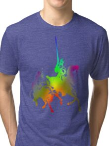 Psychedelic Don Quixote and Sancho Panza Tri-blend T-Shirt