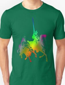 Psychedelic Don Quixote and Sancho Panza Unisex T-Shirt