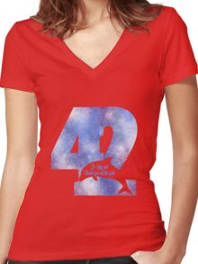 Thanks for all the fish Women's Fitted V-Neck T-Shirt