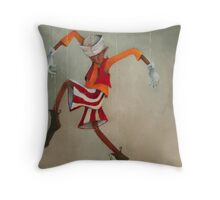 The Boy Puppet Throw Pillow