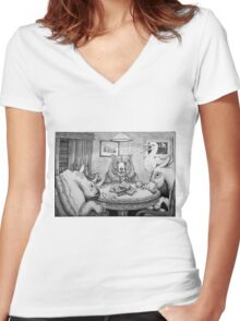 I Call Your Bread, and I'll Raise You Toast Women's Fitted V-Neck T-Shirt
