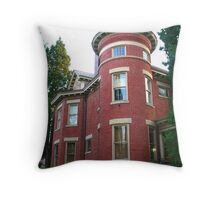 Brick Home with a Turret Throw Pillow
