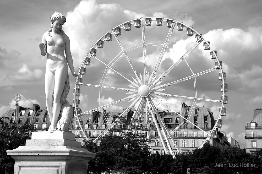 Paris - Goddess and wheel. by Jean-Luc Rollier