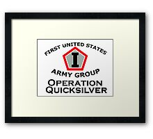 First United States Army Group (FUSAG) - Operation Quicksilver Framed Print