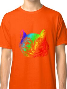Psychedelic Cheshire Cat Trippy Alice Classic T-Shirt