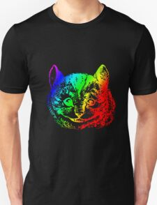 Psychedelic Cheshire Cat Trippy Alice T-Shirt