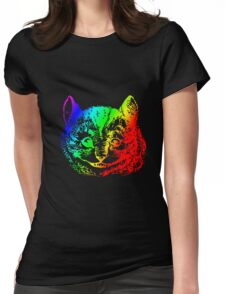 Psychedelic Cheshire Cat Trippy Alice Womens Fitted T-Shirt