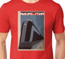 Pacific Star Vintage Railroad Travel Poster Restored Unisex T-Shirt
