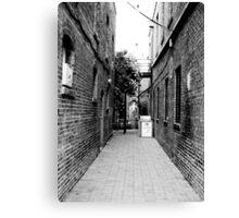 Quiet Alley Canvas Print