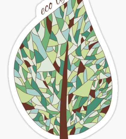 Ecology card design  Sticker