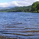 Full panorama looking north along Esthwaite Water, English Lake District. by Philip Mitchell