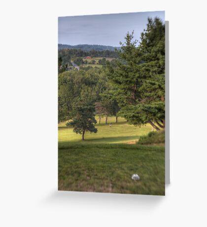 The Lone Golfer Greeting Card