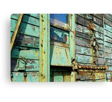 Green rusting & flaking trailer Canvas Print