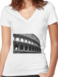 Before entering the Colosseum Women's Fitted V-Neck T-Shirt