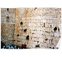 The Wailing Wall - Old City of Jerusalem, Israel Poster