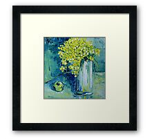 Still life with green Apple Framed Print