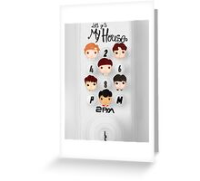 2PM ~ My House Greeting Card