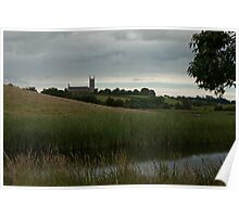 Downpatrick Cathedral from the Quoile Poster