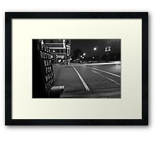 Push Button To Walk Framed Print