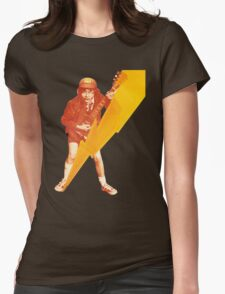 ACDC Angus Young Guitar Womens Fitted T-Shirt