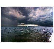 """Stormclouds over lake """"Bodensee"""" - Germany Poster"""