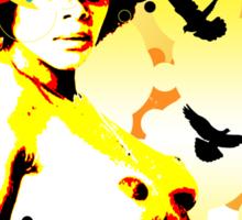 Onyx Doves Sticker