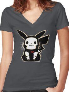 Skel-pika Women's Fitted V-Neck T-Shirt