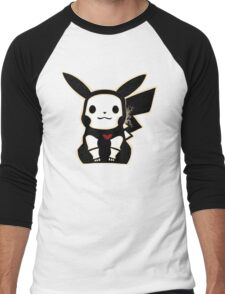 Skel-pika Men's Baseball ¾ T-Shirt
